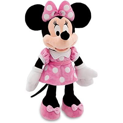 """Disney 16"""" Minnie Mouse in Pink Dress Plush Doll: Toys & Games"""