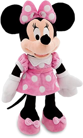 """Disney Minnie Mouse Red 17/"""" Soft Plush Doll Authentic Brand New."""