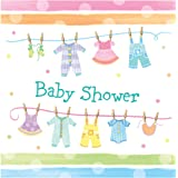 Creative Converting Baby Shower Baby Clothes 16 Count 3-Ply Paper Lunch Napkins