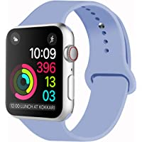 Idon Smart Watch Sport Band, Soft Silicone Replacement Sports Band Compatible for Apple Watch Band 2018 Series 4/3/2/1 38MM 40MM 42MM 44MM Apple Watch All Models