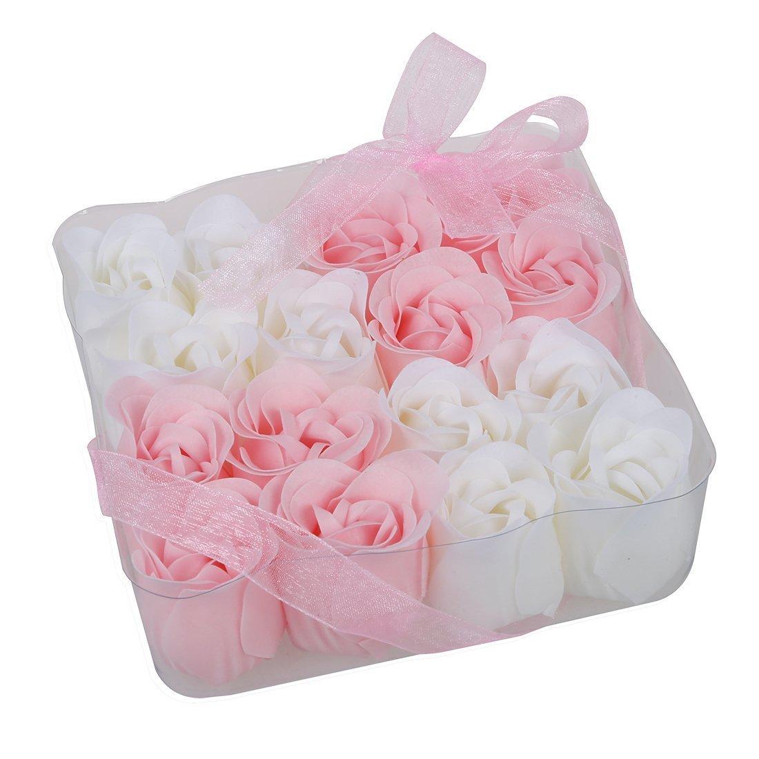 Amazon 6 Pcs Rose Flower Scented Bath Soap Petals Orange W