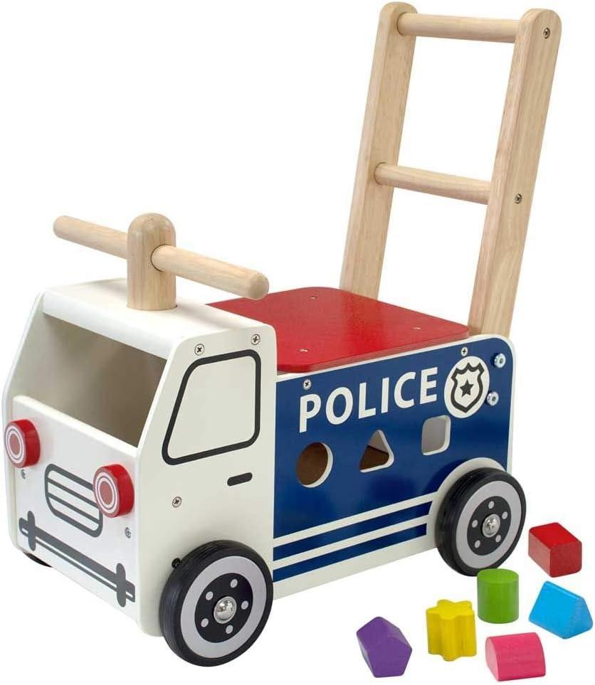 I'M Toy IM87701 Le Camion De Police Porteur En Bois