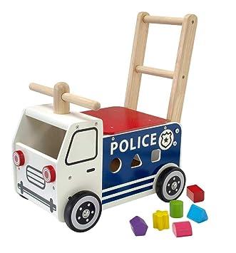 I M TOY - Correpasillos Andador de Madera camión de policía ...