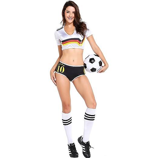 Amazon.com: cosmovie fútbol animadora uniforme para las ...