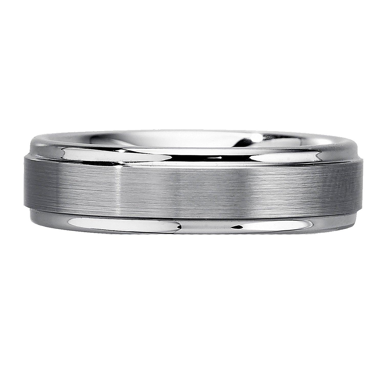 AX Jewelry Mens 6mm Tungsten Wedding Band
