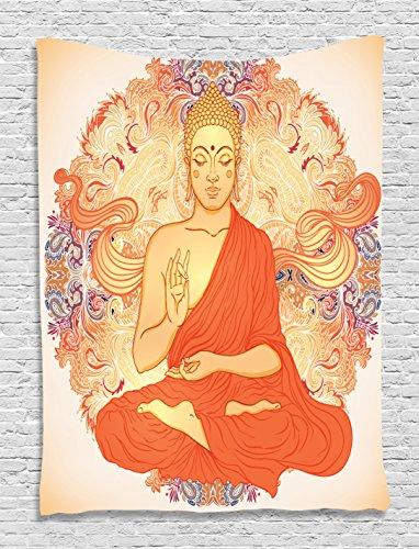 Ambesonne Meditation Ornamental Spiritual Accessories
