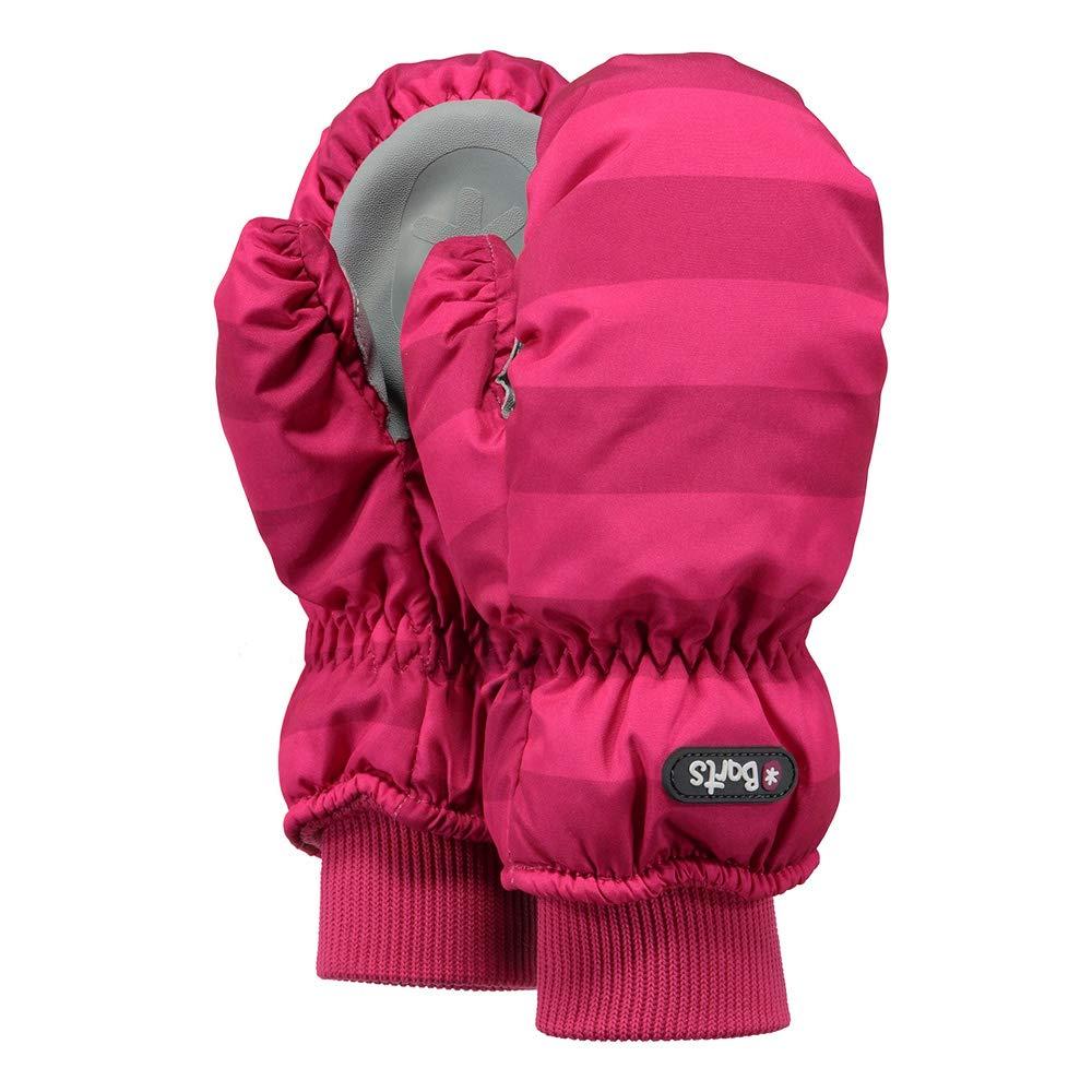 Barts Children's Gloves Nylon Mitts Fuchsia Stripe Pink 0606 432