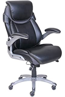 Dormeo True Innovations Octaspring Bonded Leather Manager Office Chair,  Black