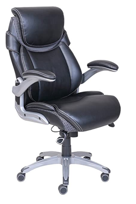 Genial Dormeo True Innovations Octaspring Bonded Leather Manager Office Chair,  Black