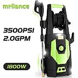 mrliance 3600PSI Electric Pressure Washer 2.4GPM Power Washer 1800W High Pressure Washer Cleaner Machine with Spray Gun, Hose