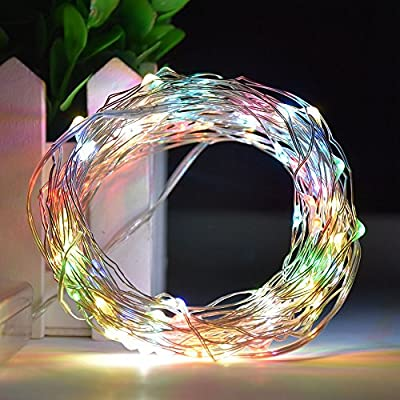 elcPark RGB Muti-color 10M 32FT 100 LED String Rope Light Battery Operated Portable Outdoor Decorate