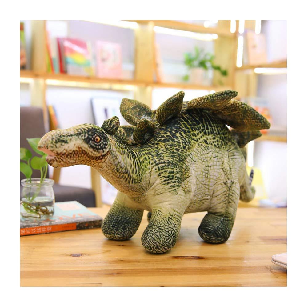Stegosaurus petit IIWOJ Simulé Dinosaure Oreiller, poupée en Peluche Douce, Cadeau d'anniversaire de Sommeil Oreiller Enfants,Tricerahauts,M