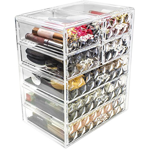 Sorbus Makeup Storage Organizer - 3 Large and 4 Small Drawer