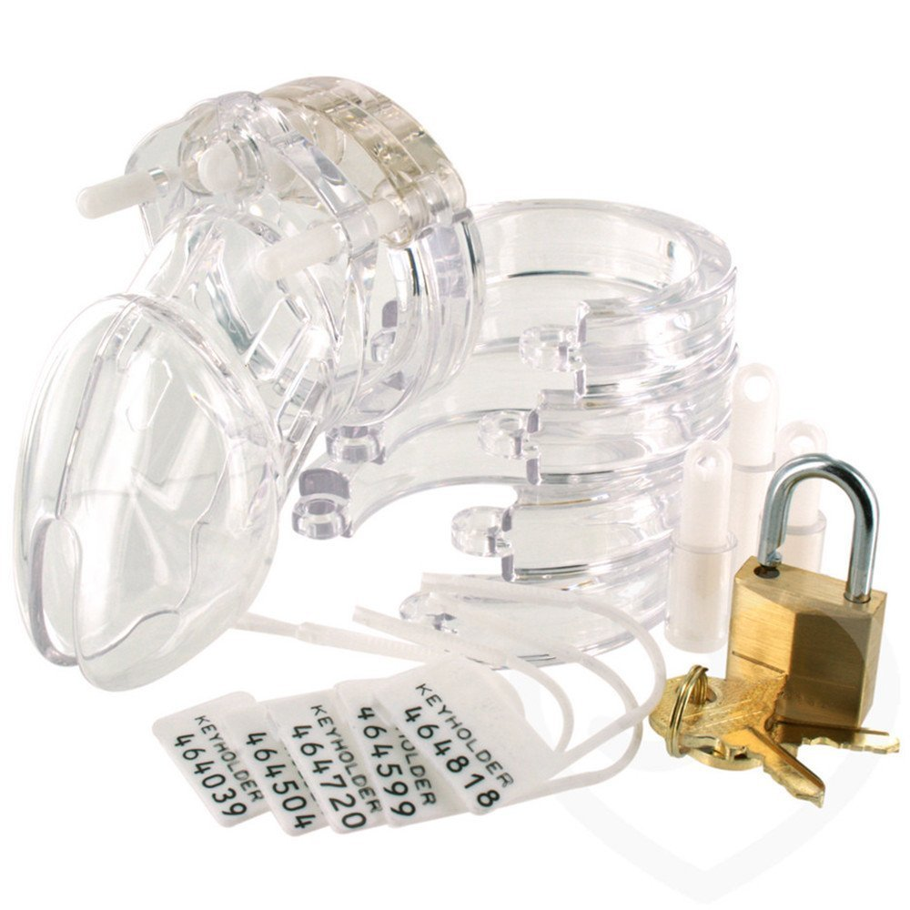 VYW Short Male Chastity Device - Transparent by OEM