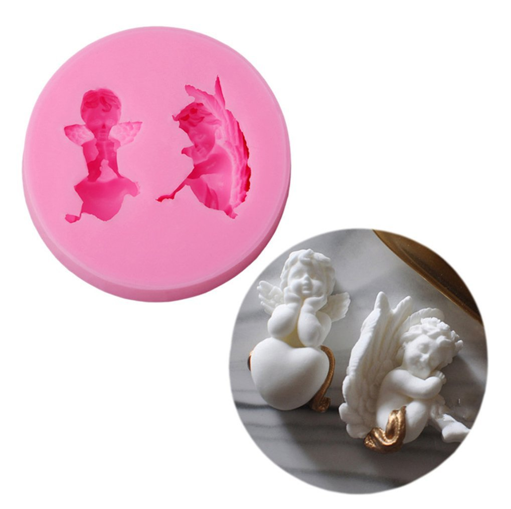 Gluckliy Angel Baby DIY Silicone Mould Chocolate Sugarcraft Fondant Mold Cake Decorating Mold Bakeware Baking Tools fangqiang