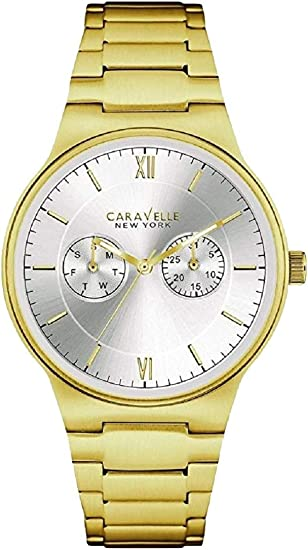 Caravelle Men's Watch 44 A109 Stainless Steel Gold Plated