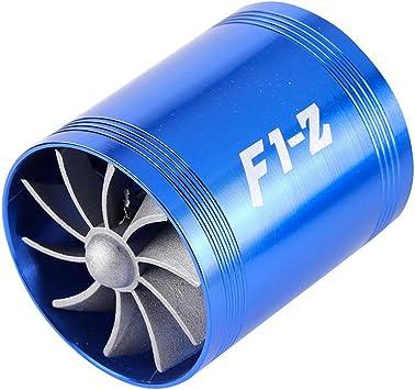 Y&Jack Turbina de Doble Cara automotriz, Sistema de aceleración de Doble Ventilador del ahorrador de Gas del ...