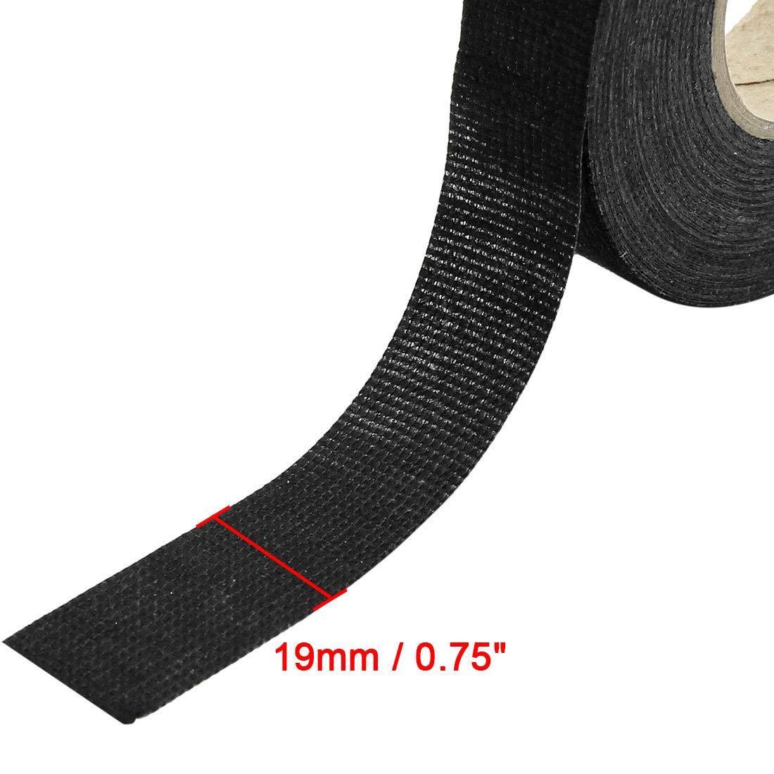 Autohaux Lot de 5 Bandes adh/ésives en Tissu pour Harnais de Voiture 19 mm x 15 m