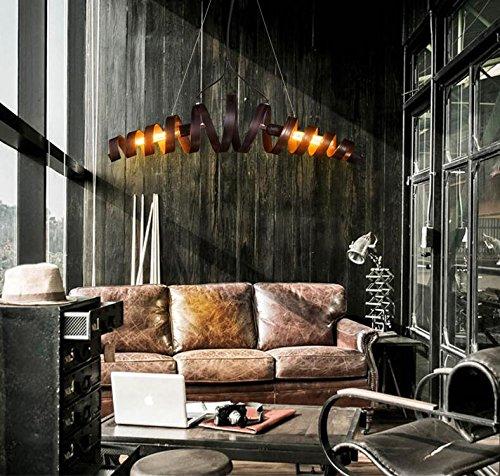 Bbar retro hierro l/ámpara moderna l/ámpara de estilo industrial minimalista L/ámpara colgante