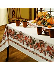 Exceptional Benson Mills Thanksgiving Printed Fabric Tablecloth, 60 Inch By 84 Inch
