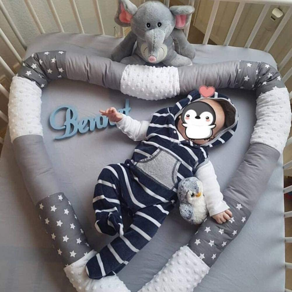 Enjoyment Bed Bumpers Safe Anti-Collision Crib Bumper Cot Pillow Bedding roll Long Bumper Snake Breathable Crib Liner for Boys and Girls Unisex Multipurpose Pillow Cushion