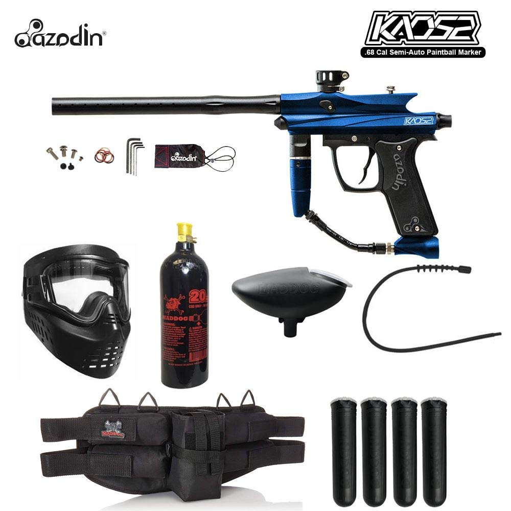 MAddog Azodin KAOS 2 Silver Paintball Gun Package - Blue/Black by MAddog