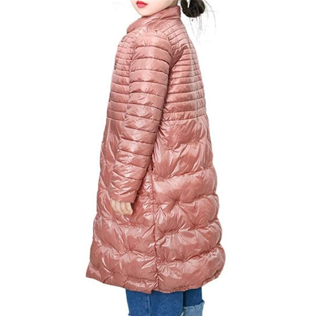 Wofupowga Big Girls Cute Cotton Padded Warm Puffer Snap Button Parkas Jacket