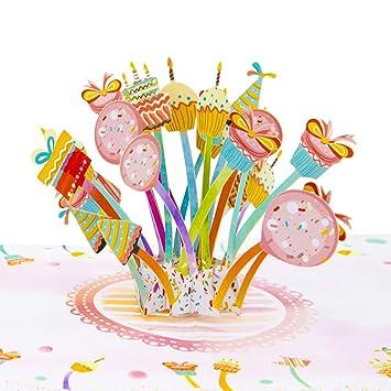 Amazon.com: Tarjeta de felicitación 3D para cumpleaños ...
