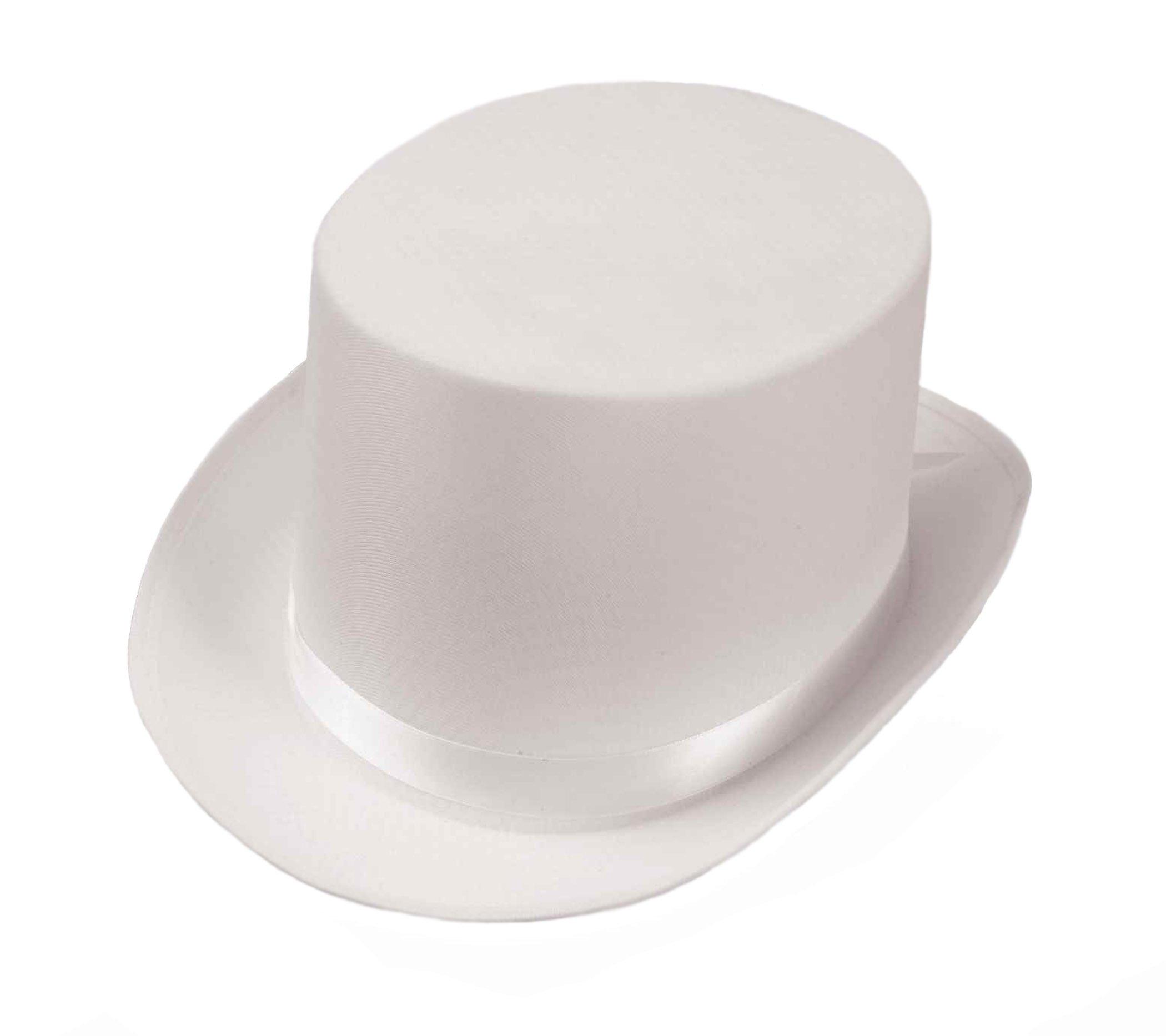 Beistle Satin Sleek White Top Hat
