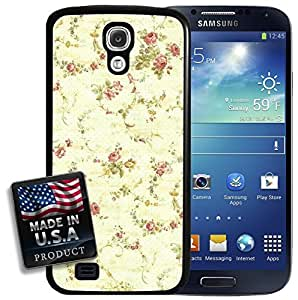 Vintage Floral Rose Flowers Classic Pattern Wallpaper Galaxy S4 Hard Case