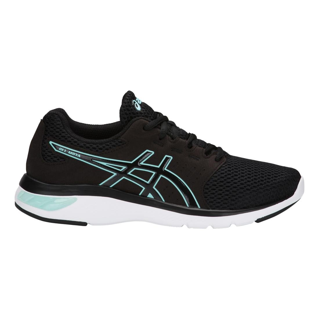 ASICS Women's Gel-Moya Ankle-High Running Shoe B077H2629Z 5 B(M) US|Black/Blue