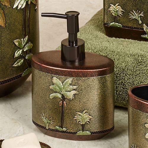 Popular Bath Havana Lotion Soap Dispenser Sage (Palm Tree Wastebasket)