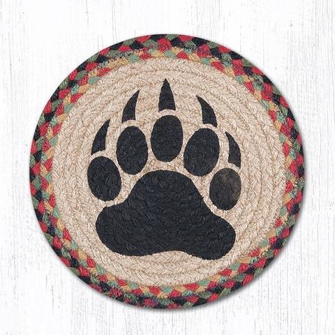 10''X10'' Burgundy/Black/Sage Bear Paw Round Trivet by Heart of America (Image #1)