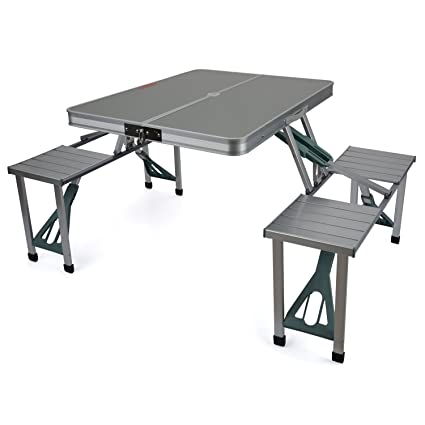 Buy Inditradition Folding Picnic Table & Chair Set, Portable, Ideal ...