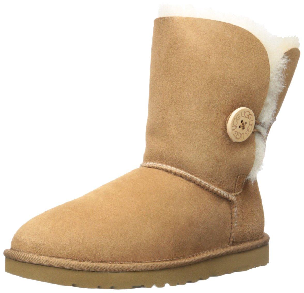 UGG Womens Bailey Button Chestnut Boot 5 B - Medium by UGG