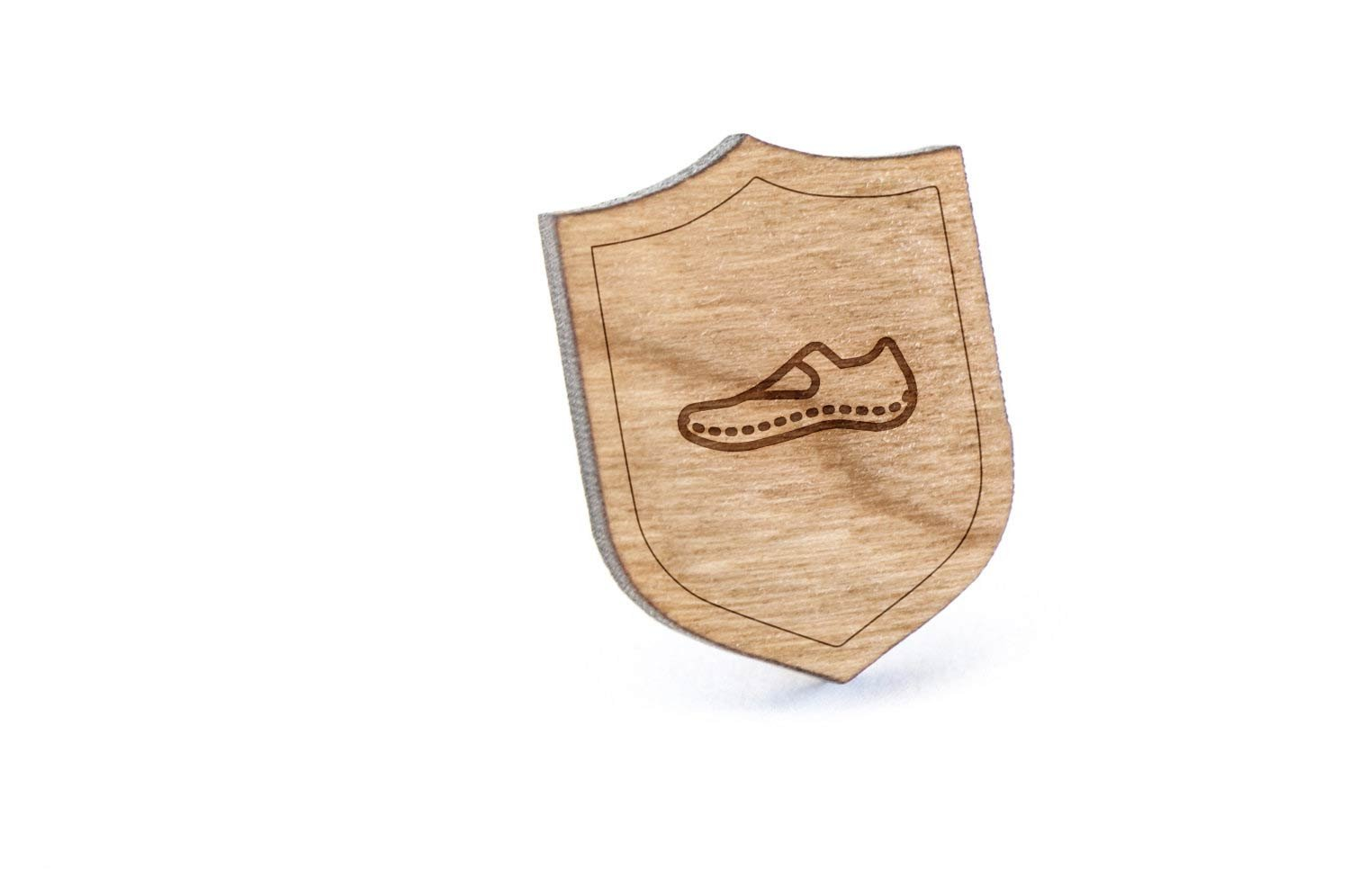 Indoor Boots Lapel Pin, Wooden Pin And Tie Tack | Rustic And Minimalistic Groomsmen Gifts And Wedding Accessories