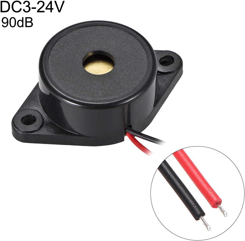 sourcing map 5 Pcs DC3-24V Active Electronic Buzzer Alarm Sounder Continuous 90dB Beep Speaker