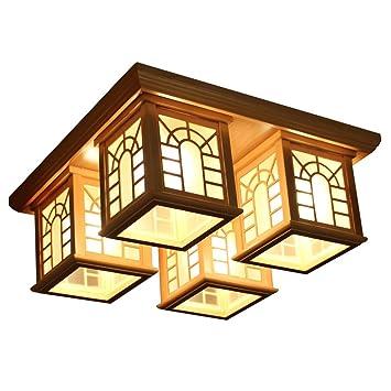Style wei Ywyun (E27 * 4) Luz de Techo Japonesa, lámpara ...