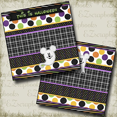 GHOSTS MOUSE NPM - Premade Scrapbook Pages - EZ Layout 2364