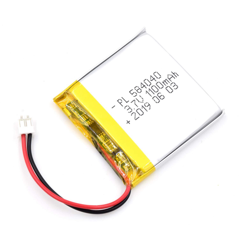 Bateria Lipo 3.7V 1100mAh 584040 Recargable JST Conector