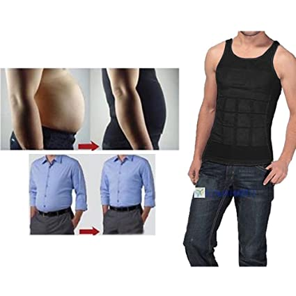 2ebb74894f8 Men's Man Boobs Slimming Upper Body Compression Undershirt Stomach Gut  Slimming Hider Fat Shrinker