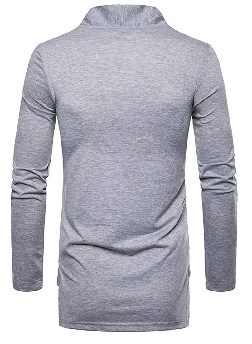 goldenharvest GH Mens Open Front Solid Long Sleeve Casual Knit Sweater Cardigans