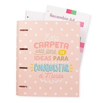Grupo Erik Editores Carouge - Carpeblock con 4 anillas, 32 x 27.5 cm: Amazon.es: Oficina y papelería