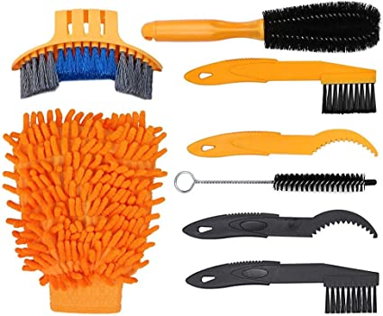 MTB Bicycle Bike Motorcycle Chain Wheel Cleaning Brushes Wash Cleaner Tools Set
