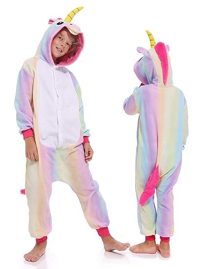 b3d248657eb5 Kids Unisex Unicorn One Piece Sleepwear Cosplay Christmas Pajamas Costume  Cute Homewear Xmas Sleepsuit for Boys
