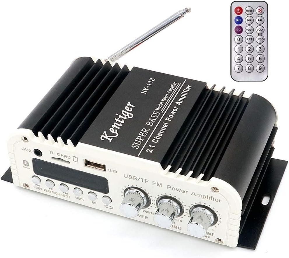 DollaTek Kentiger HY-118 2.1 Canales Bluetooth Salida Subwoofer TF USB FM Audio Amplificador de Potencia Amplificador estéreo Super Bass Dac