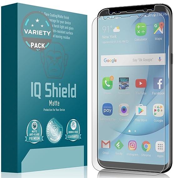 Galaxy S8 Screen Protector, IQ Shield Matte Full Coverage Anti-Glare Screen  Protector for Samsung Galaxy S8 (Case Friendly & Edge to Edge,2-Pack)