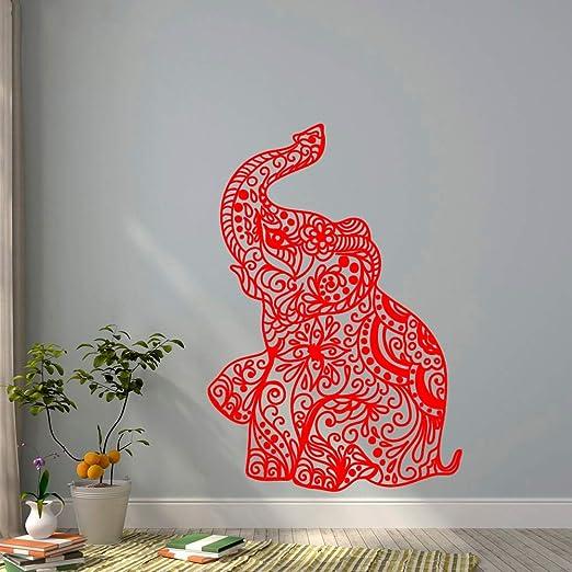 xingbuxin Tatuajes de Pared Elefante Bohemio Vinilo Pegatinas de ...