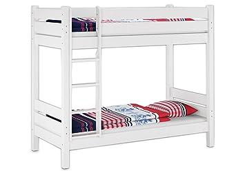 Etagenbett Für Erwachsene 100 Kg Metall : W m etagenbett in weiß mit Überlänge für erwachsene