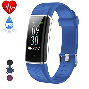 Brazalete de fitness con pulsómetro, hetp Fitness Reloj Podómetro Pulso Reloj Fitness Trackers resistente al